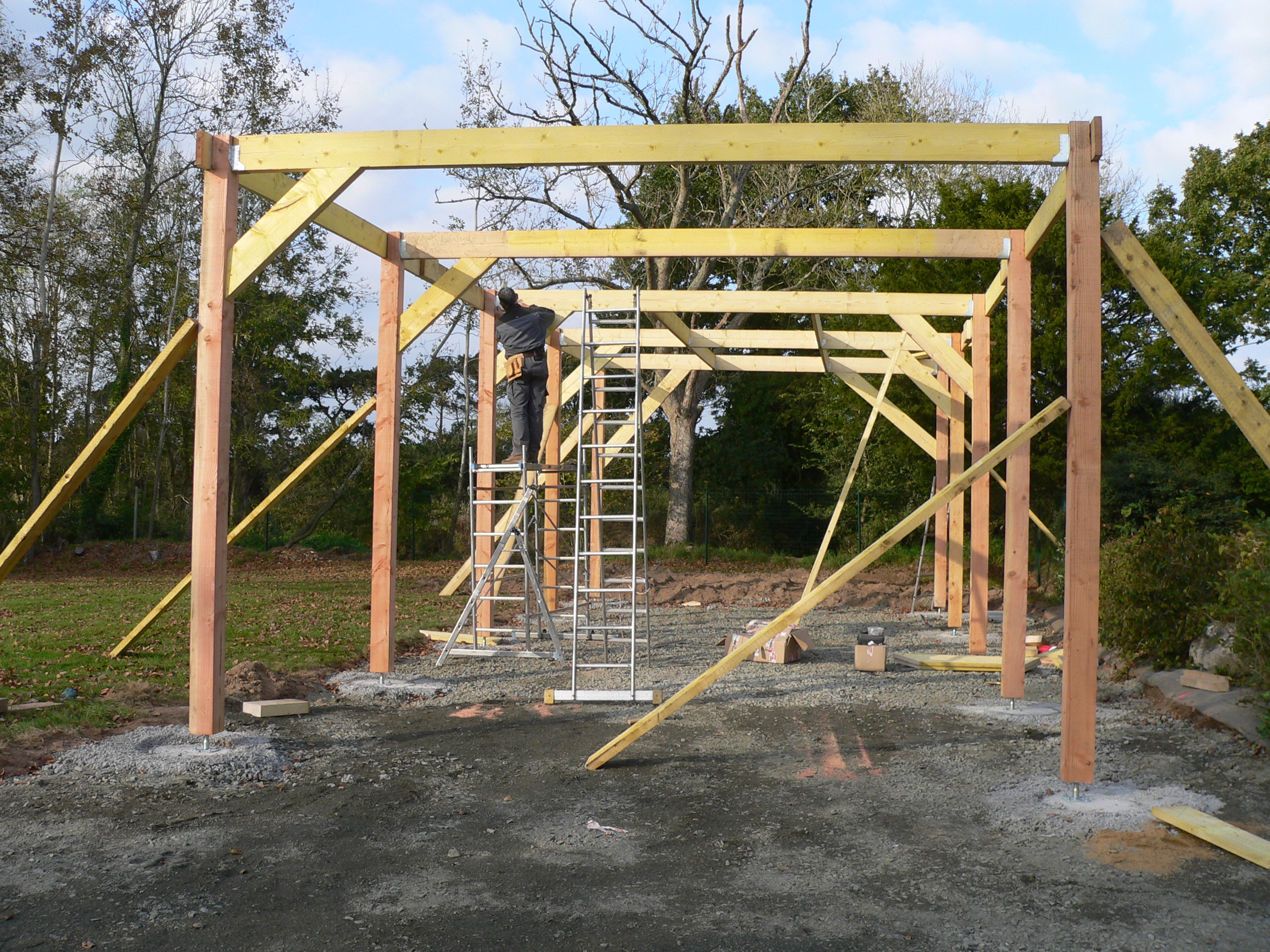 Construction garage en bois morlaix 2011 thomas paugam for Structure de bois