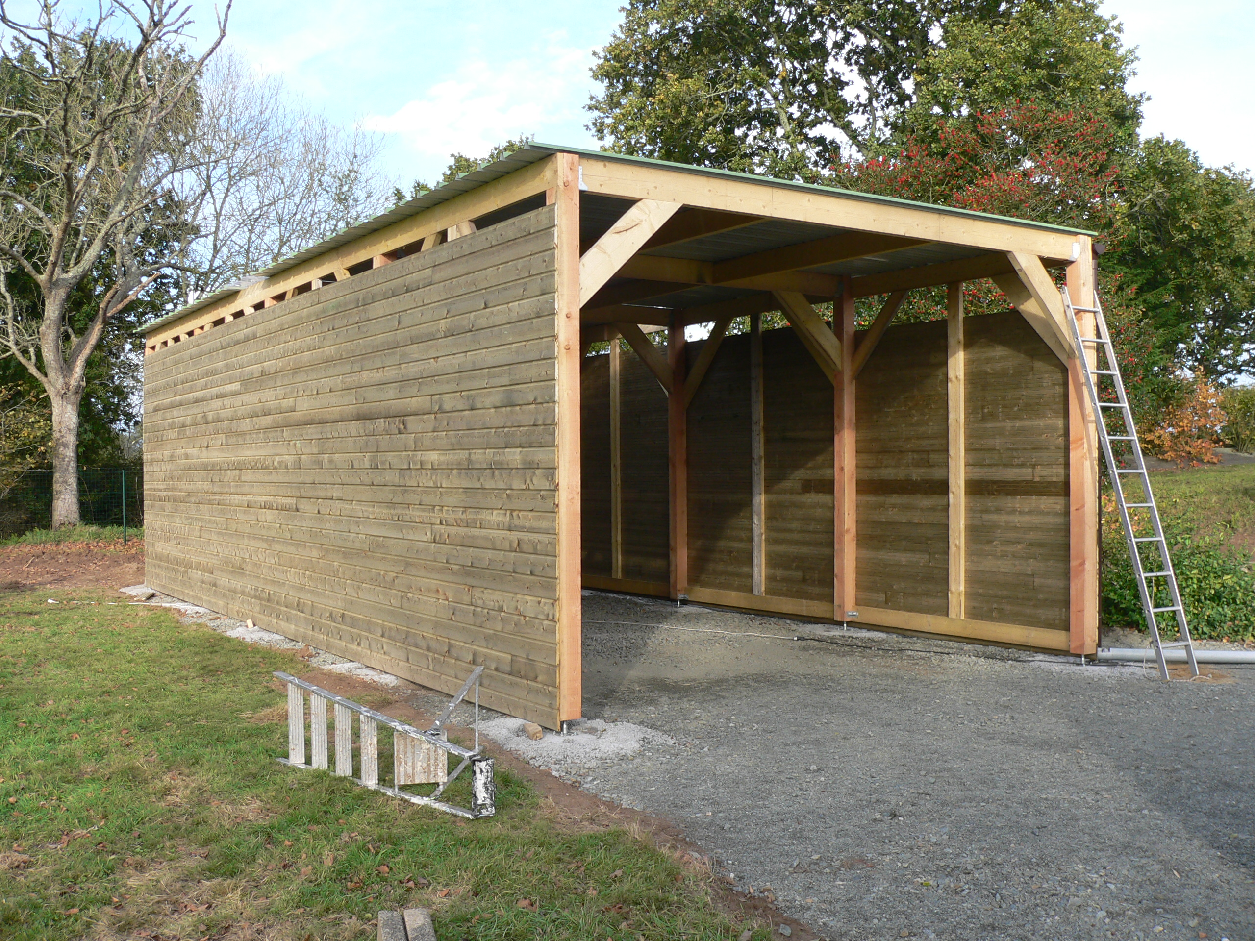 construction garage en bois morlaix 2011 thomas paugam